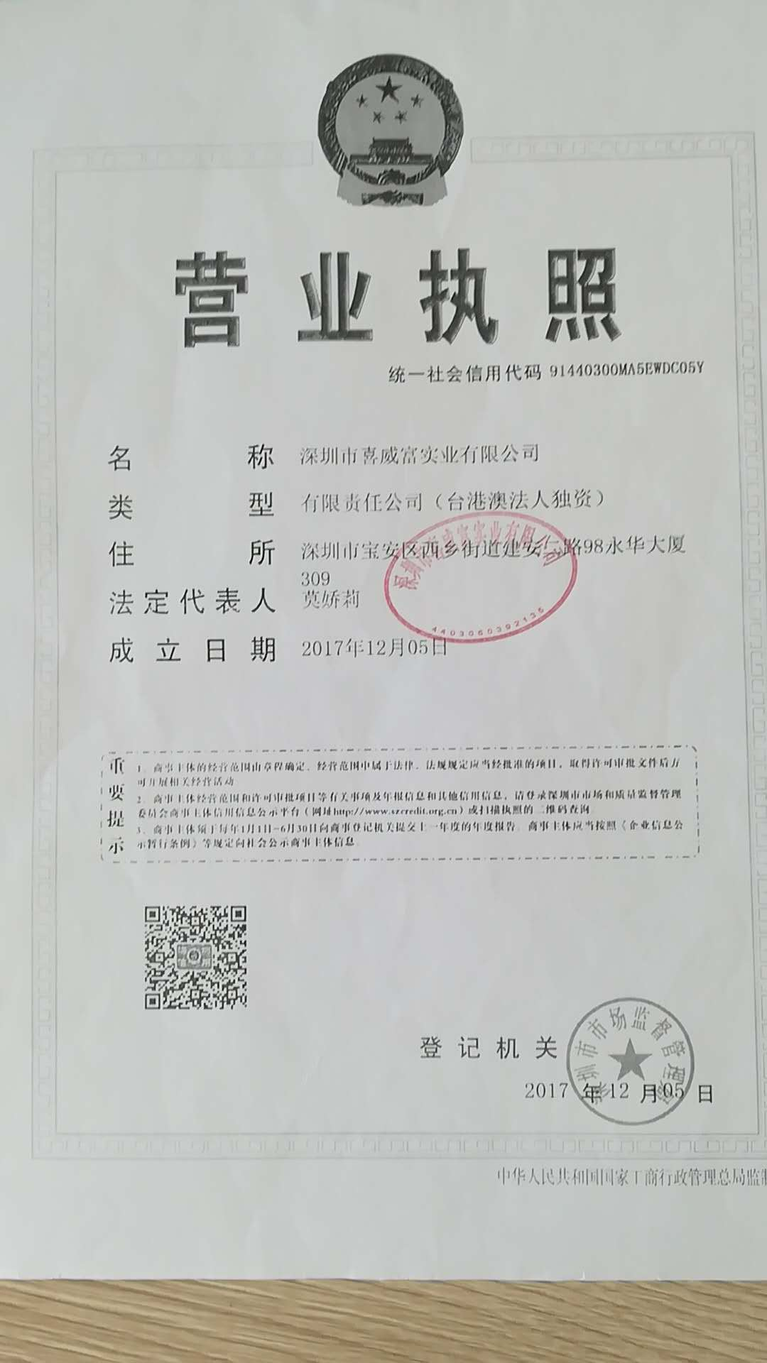 深圳市喜威富实业有限公司logo