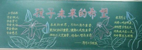 中学生家长会黑板报资料
