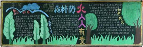 森林防火黑板报图片大全三年级
