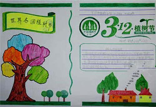 植树节手抄报文字及图片图片