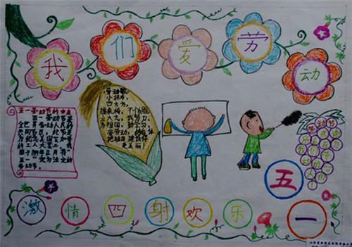 五一手抄报版面设计图片    5月1日,北京,上海,广州,九江,唐山等各