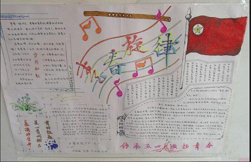 五四青年节手抄报版面设计