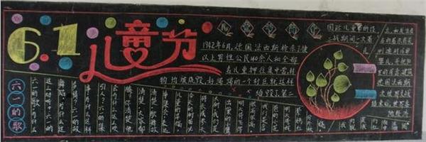 六一儿童节黑板报版面设计图