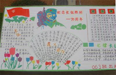 小学生学长征精神做红色传人手抄报