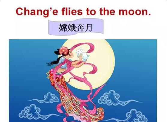 英语介绍中秋节的ppt背景图片