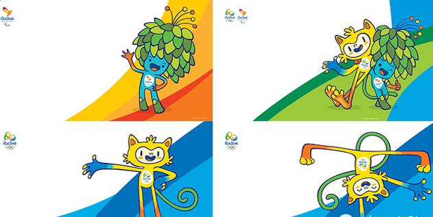 1月23日,里约奥组委公布了2016年里约奥运会和残奥会吉祥物,两个吉祥物分别代表了巴西的动物和植物!黄色的里约奥运吉祥物代表巴西的动物,其中有猫的灵性,猴子的敏捷以及鸟儿的优雅;蓝色的里约残奥吉祥物的设计灵感来自巴西热带雨林的植物,体现出桑巴国度的热情与奔放。  里约奥运会品牌主管贝特卢拉说:里约奥运会和残奥会的吉祥物代表了巴西文化和巴西人的多样性,代表着巴西的快乐和处事的方式。