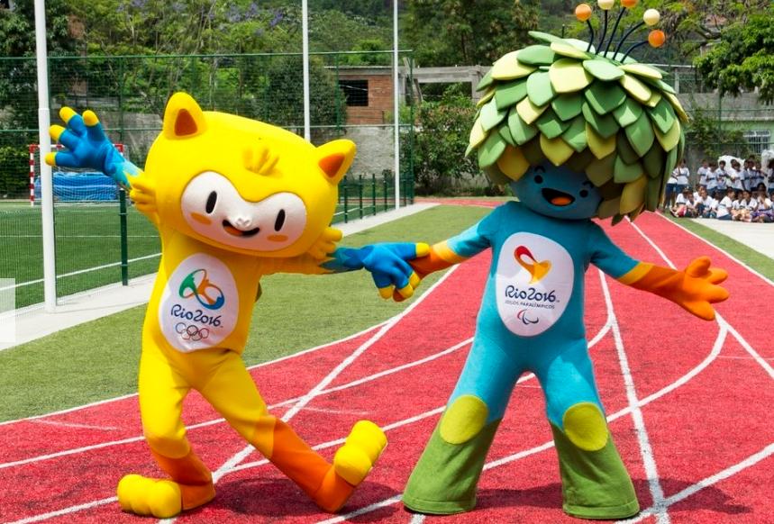 2016里约奥运会和残奥会吉祥物亮相图片