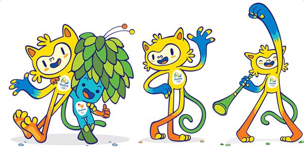 2016年里约奥运会吉祥物亮相图片