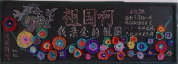 国庆节黑板报版面设计图片