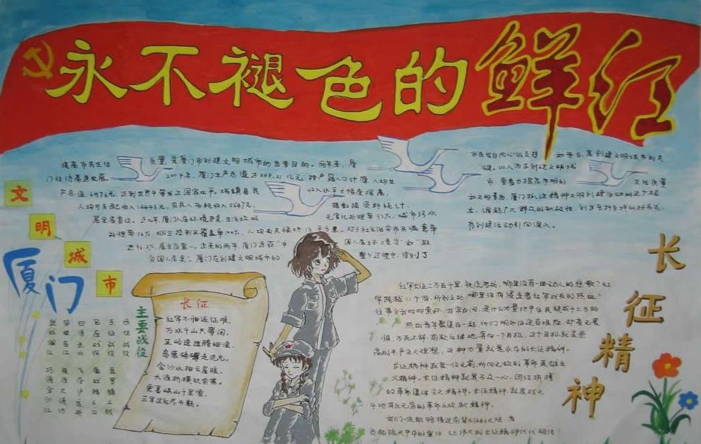 2016长征胜利80周年手抄报