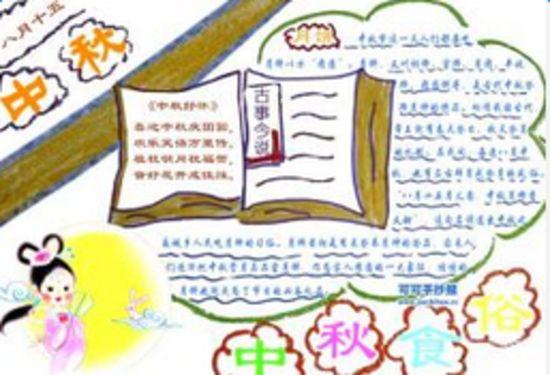 中秋节手抄报图片大全五年级