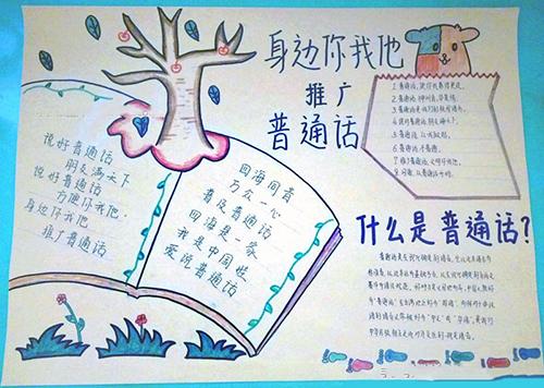 推广普通话手抄报内容小学生