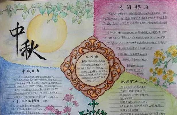 庆中秋手抄报