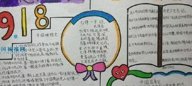 918事变手抄报内容图片