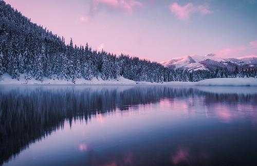 描写冬天的诗句图片