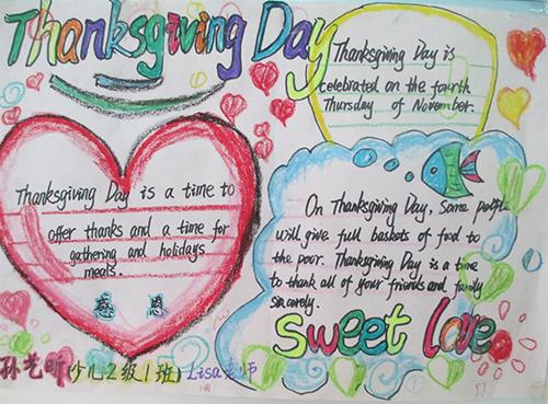 关于感恩节英语的手抄报图片1-关于感恩节英语的手抄报资料
