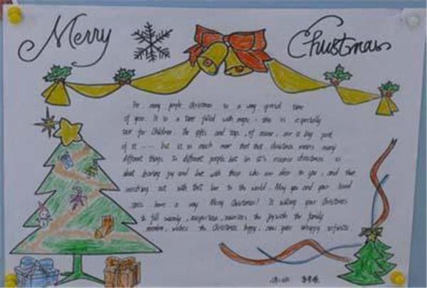 四年级圣诞节英语手抄报图片图片