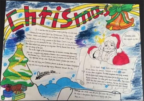 欢庆圣诞节手抄报英语图片
