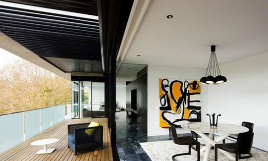 美式别墅庭院设计效果图