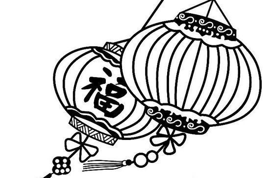 少儿美术简笔画【灯笼】