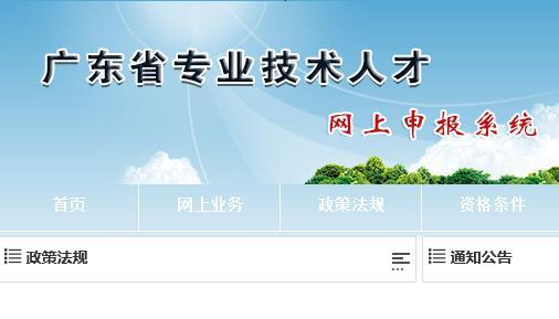 广东省专业技术人员网上申报系统