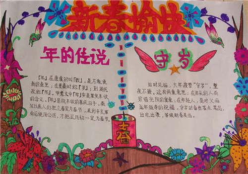 春节手抄报简单又漂亮的手抄报大全图片