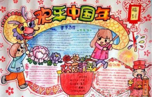 每年春节放假都有不少的小学中学朋友都要进行春节主题的手抄报