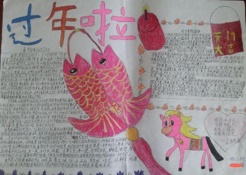 欢度春节手抄报2017年图片