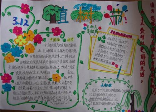 2017有关植树节的手抄报