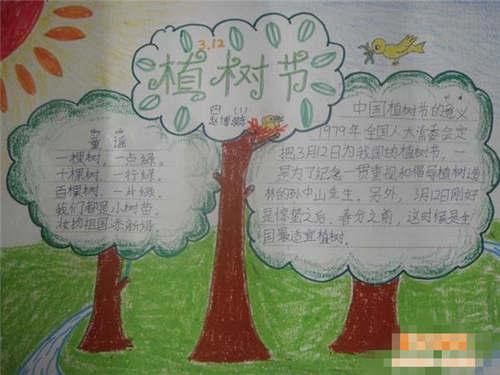 植树节手抄报版面设计图大全