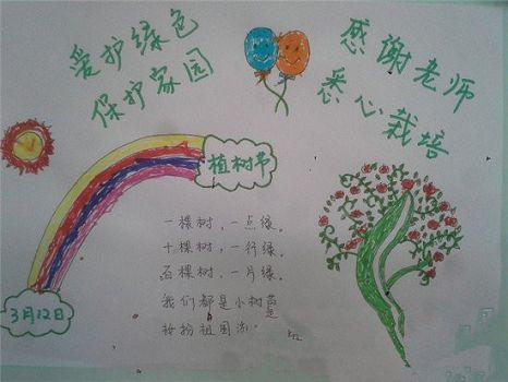 2017年小学生植树节手抄报大全