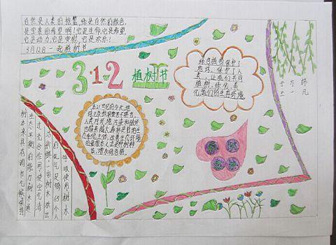 2017年植树节手抄报简单又漂亮大全