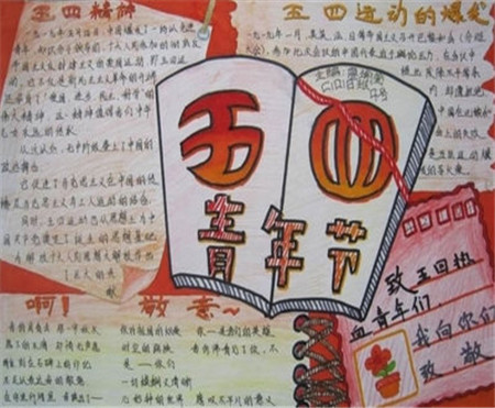 五四青年节手抄报图片