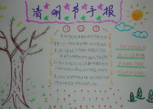 清明节手抄报图片6年级