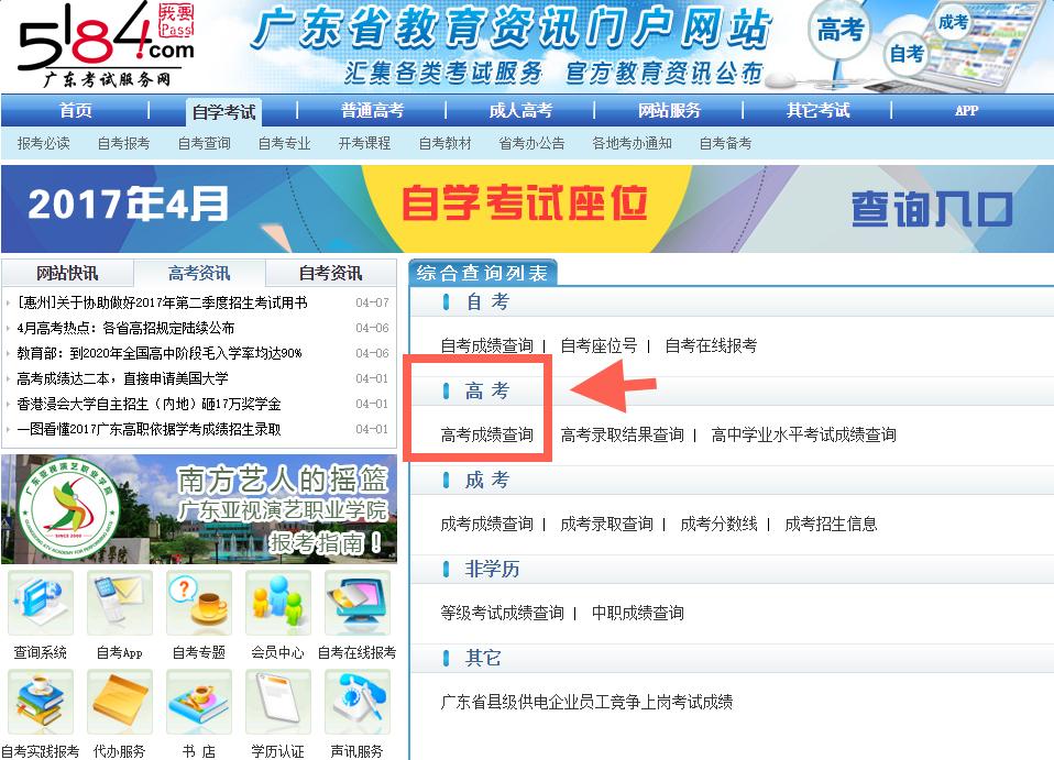 2017年广东省高考分数