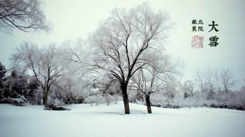 关于大雪节气的诗词
