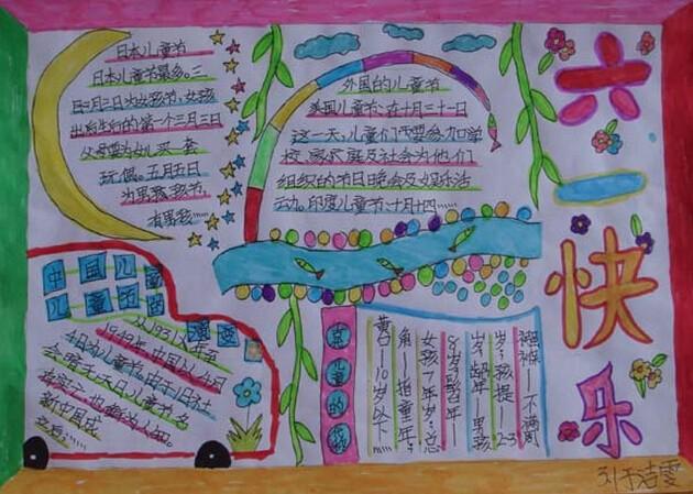 三年级六一儿童节手抄报图片简单又漂亮