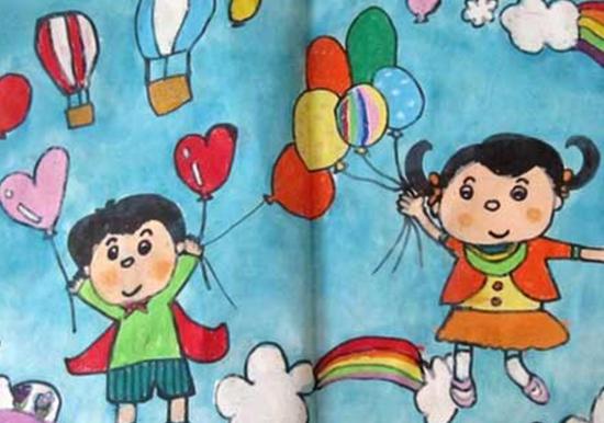 2017六一儿童节的画