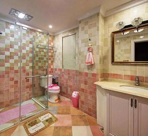 衛生間地磚效果圖_衛生間瓷磚搭配裝修效果圖